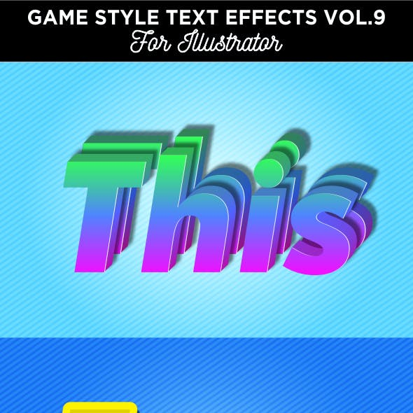 Game Style Text Effects for Illustrator