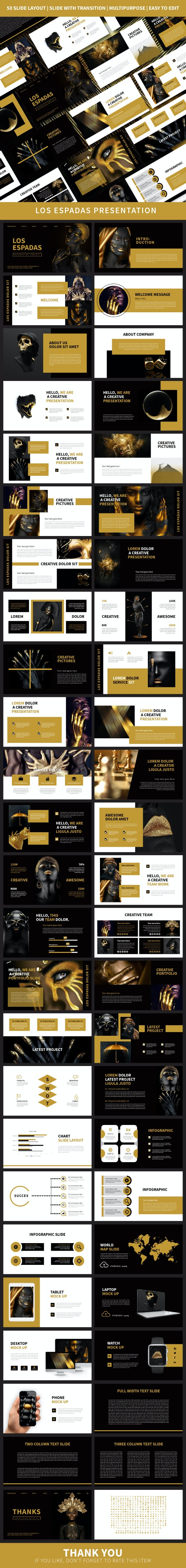 Los Espadas PowerPoint Temp - Creative PowerPoint Templates