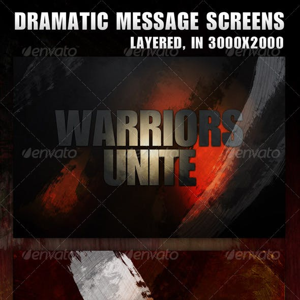 3 Dramatic Message Screens