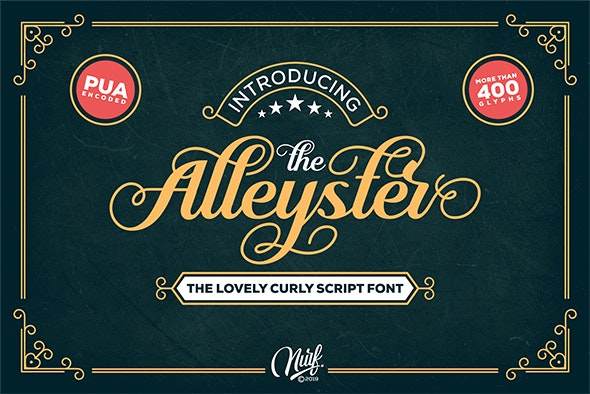 Alleyster - Calligraphy Script