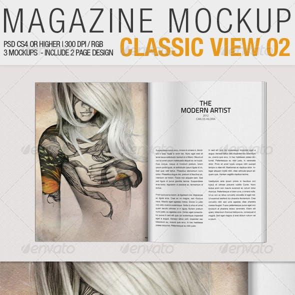 Magazine Mockup Classic View 02