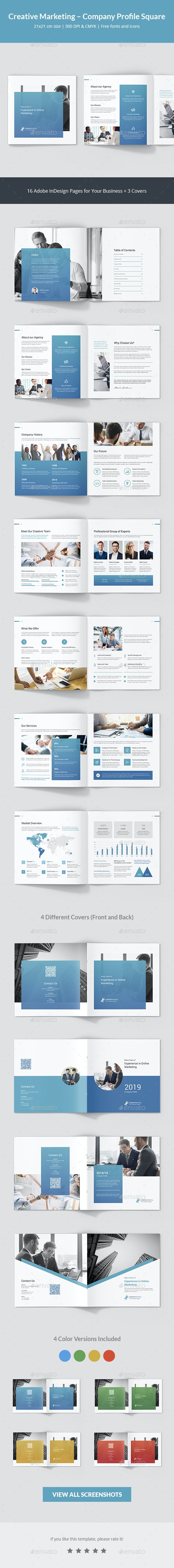 Creative Marketing – Company Profile Square - Corporate Brochures