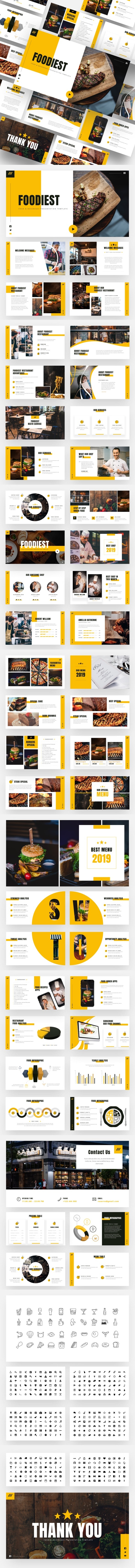 Foodiest - Food &  Beverages Powerpoint Template - Creative PowerPoint Templates