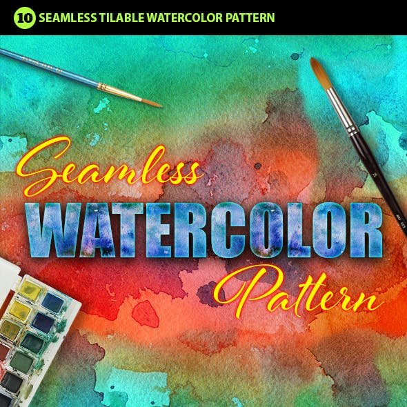 Watercolor Photoshop Pattern Vol.1