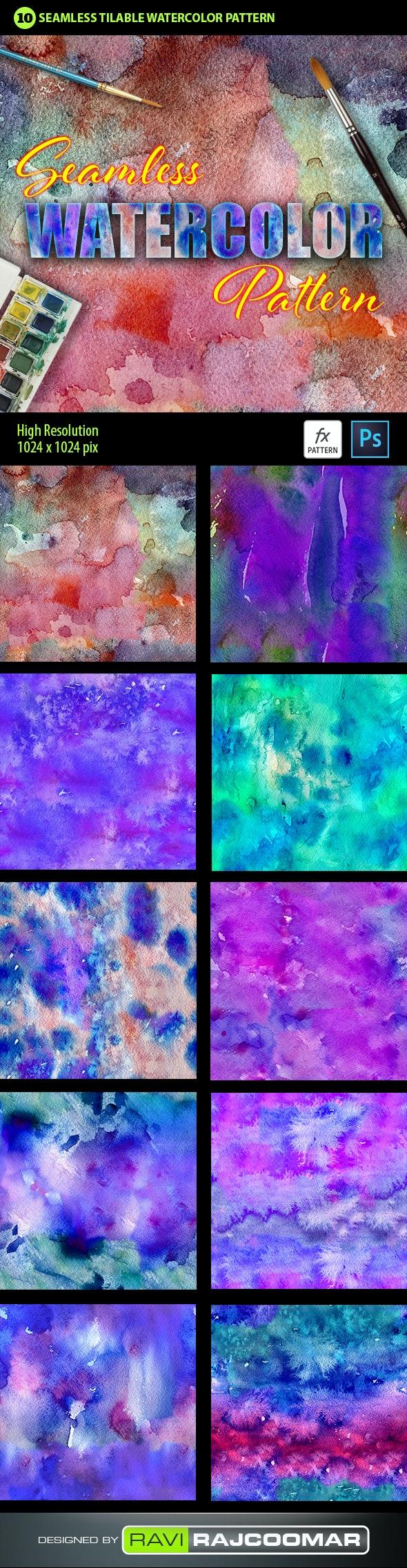Watercolor Photoshop Pattern Vol.2 - Textures / Fills / Patterns Photoshop