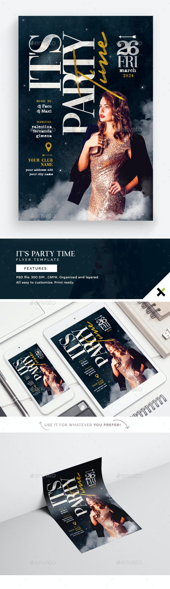 It's Party Time Flyer Template - Flyers Print Templates