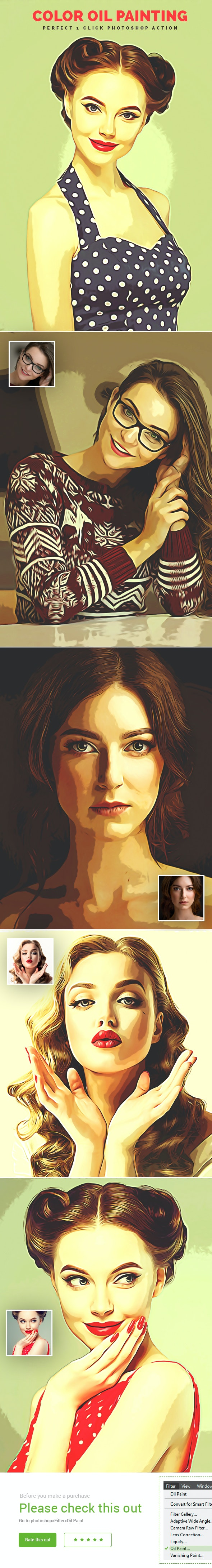 Color Oil Painting - Photo Effects Actions