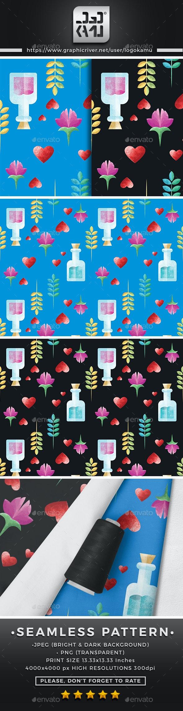 Perfume Seamless Pattern - Patterns Backgrounds