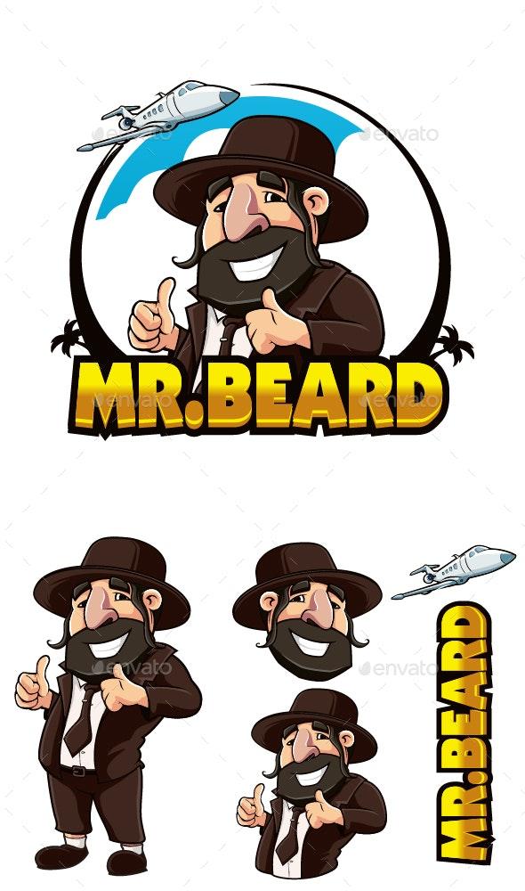 Mr Beard Man Travel - People Characters