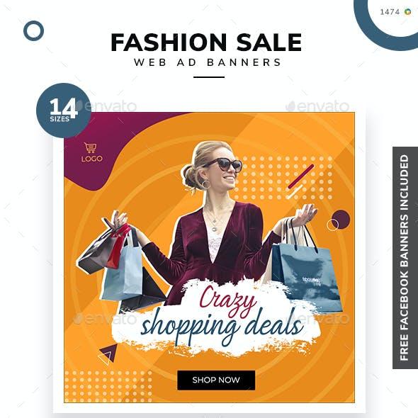 Fashion Sale Web Banner Set