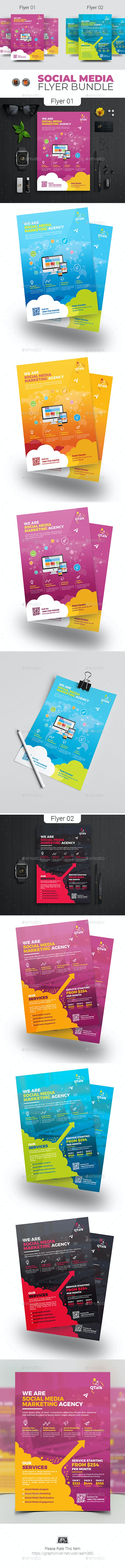 Social Media Flyer Bundle - Corporate Flyers