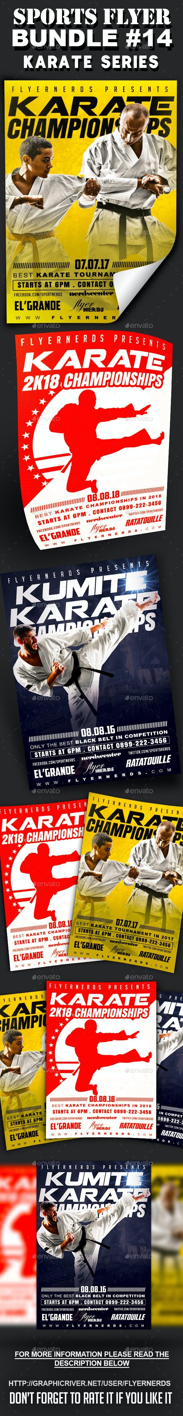 Sports Flyer Bundle 14 Karate Series - Sports Events