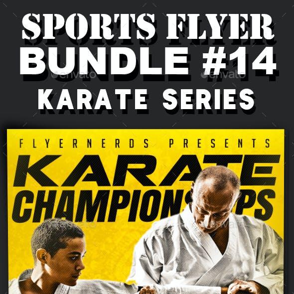 Sports Flyer Bundle 14 Karate Series
