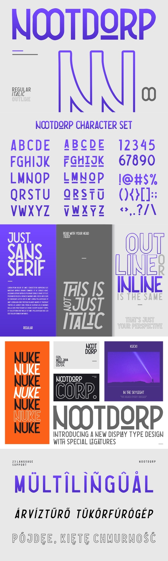 NOOTDORP - Sans-Serif Fonts