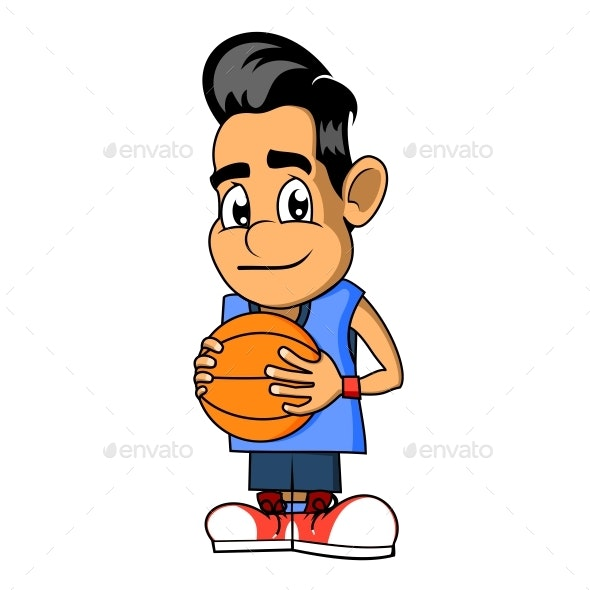 Boy With a Basketball - People Characters