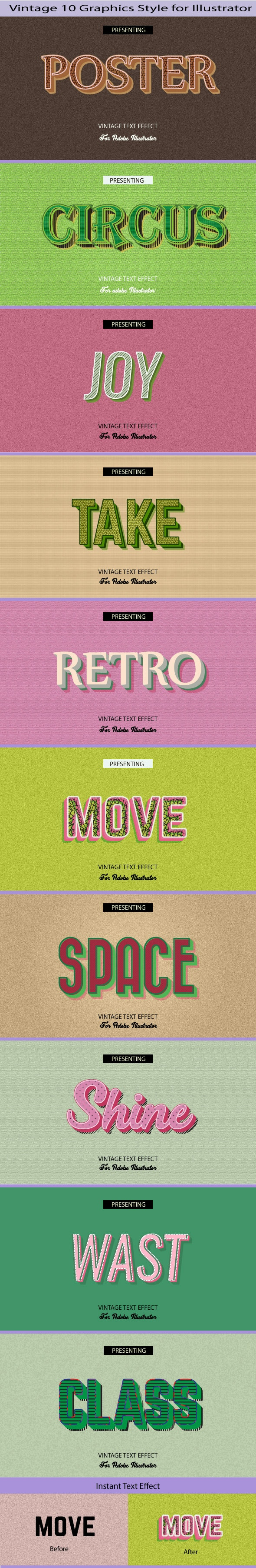 Vintage Graphics Style for Illustrator - Add-ons
