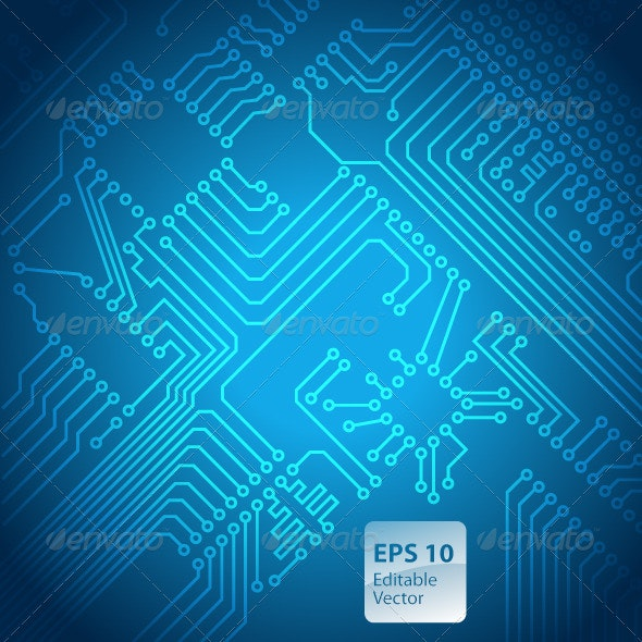 Circuit Board Background - Backgrounds Business