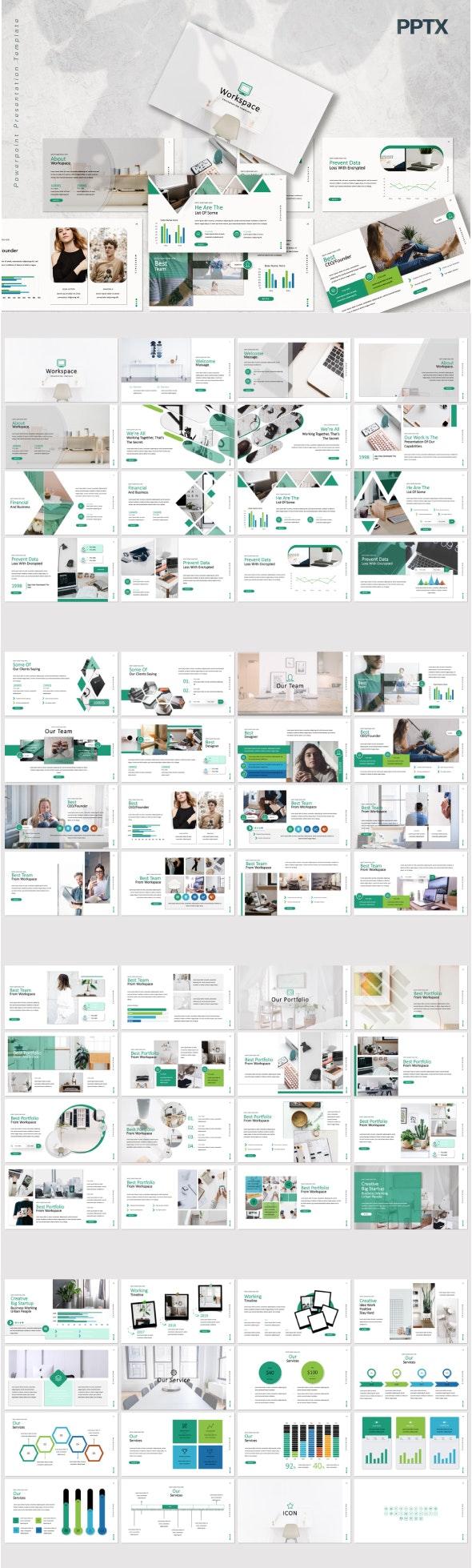 Workspace Light & Dark Powerpoint - Business PowerPoint Templates