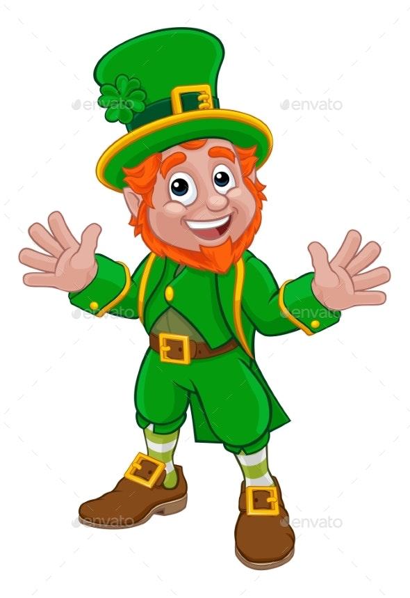 Leprechaun St Patricks Day Cartoon Character - Miscellaneous Seasons/Holidays