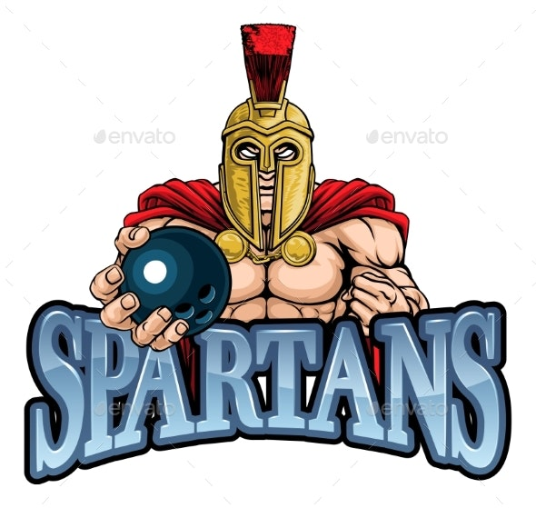Spartan Trojan Bowling Sports Mascot - Sports/Activity Conceptual