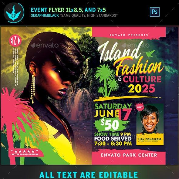 Island Fashion Flyer Template