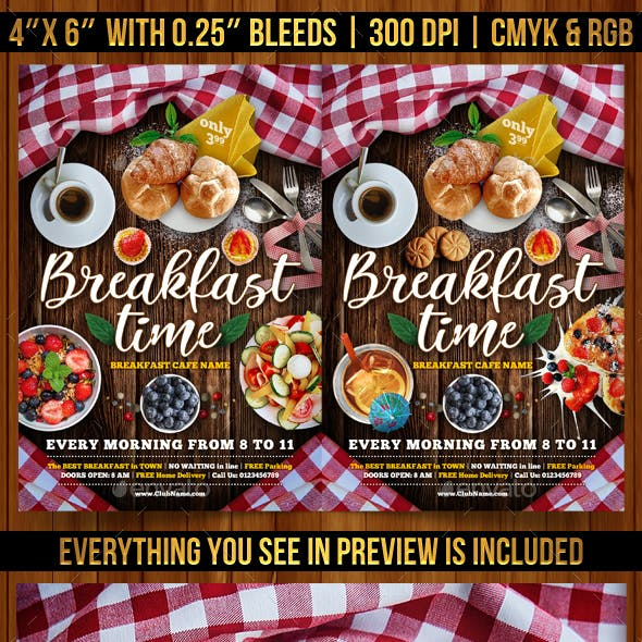 Breakfast Time Flyer Template