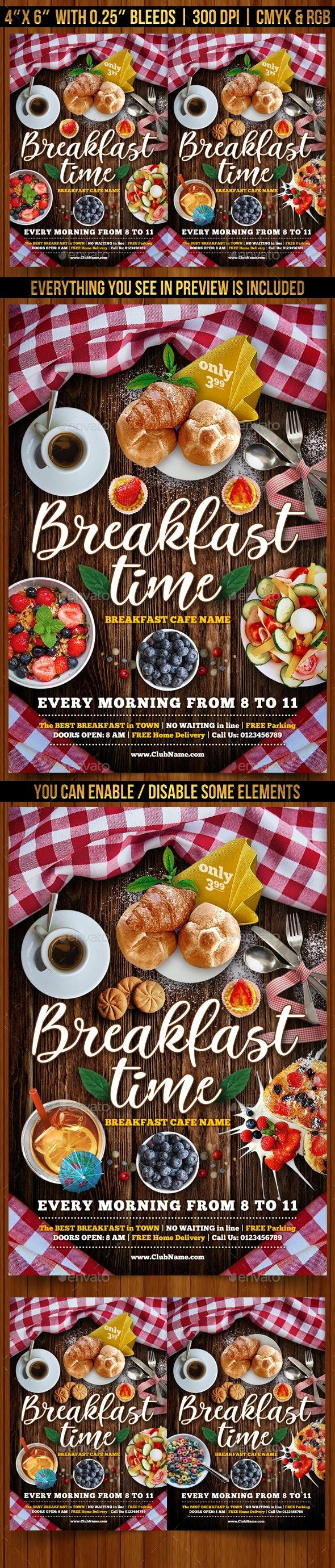 Breakfast Time Flyer Template - Restaurant Flyers
