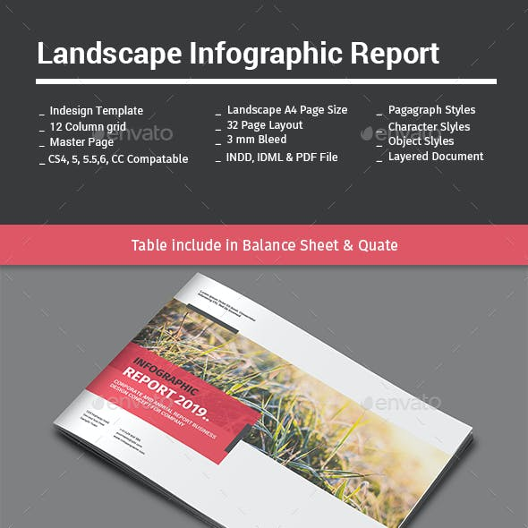 Landscape Infographic Report