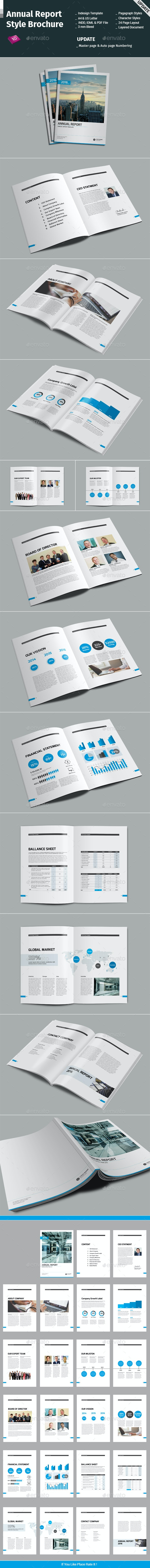 Annual Report Style Brochure - Informational Brochures