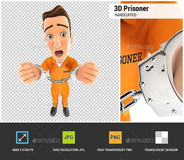 3D Prisoner Handcuffed - Characters 3D Renders