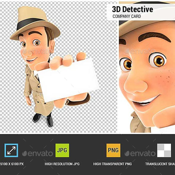 3D Detective Holding Company Card