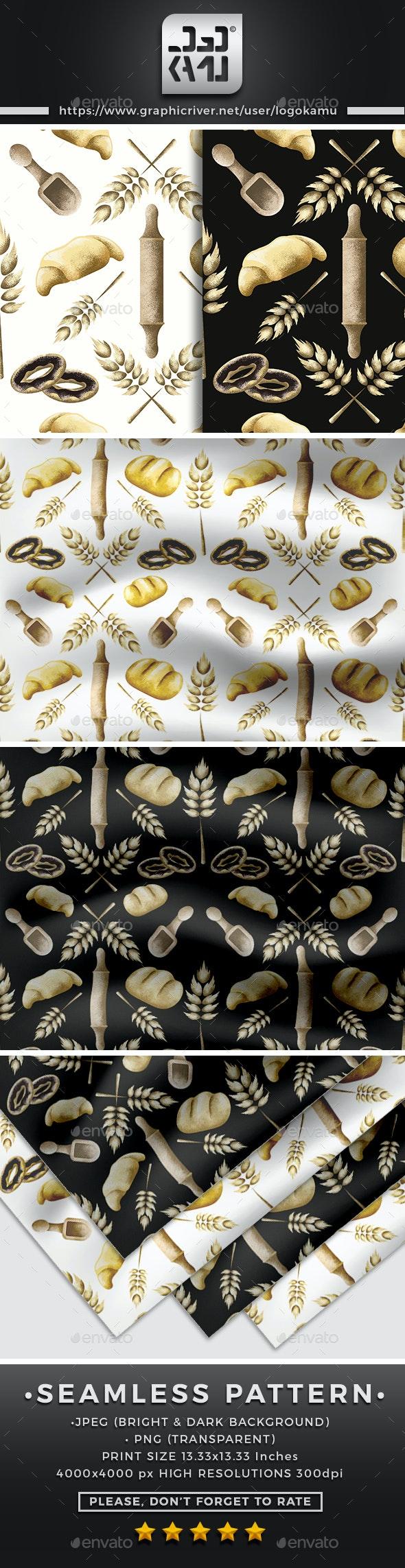 Bakery Seamless Pattern - Patterns Backgrounds