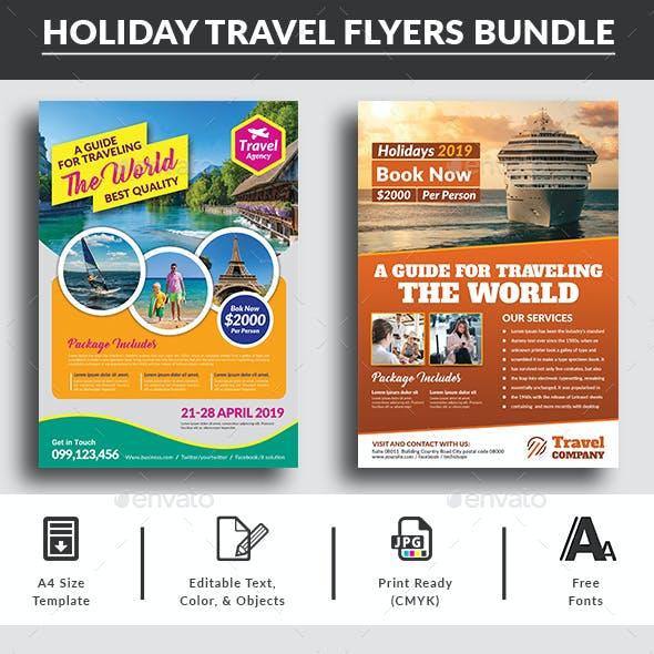 Holiday Travel Flyers Bundle
