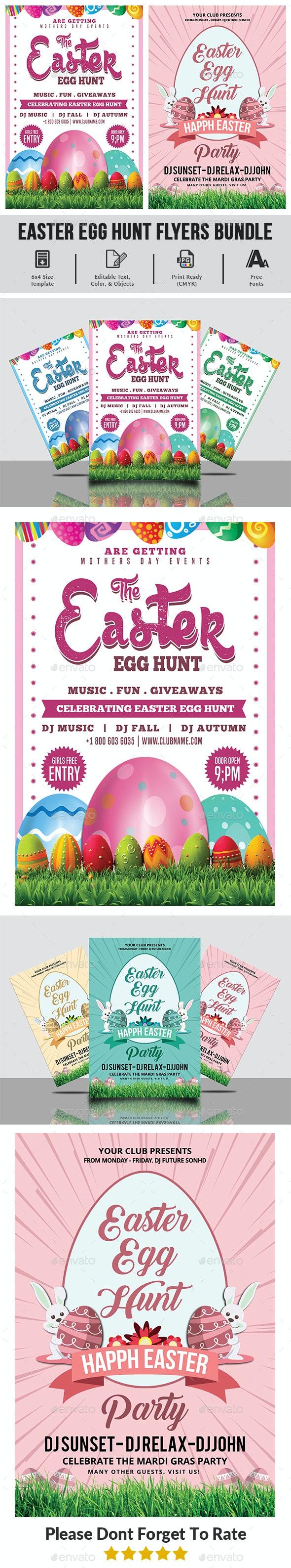 Easter Egg Hunt Flyers Bundle - Events Flyers