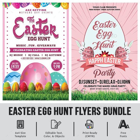 Easter Egg Hunt Flyers Bundle