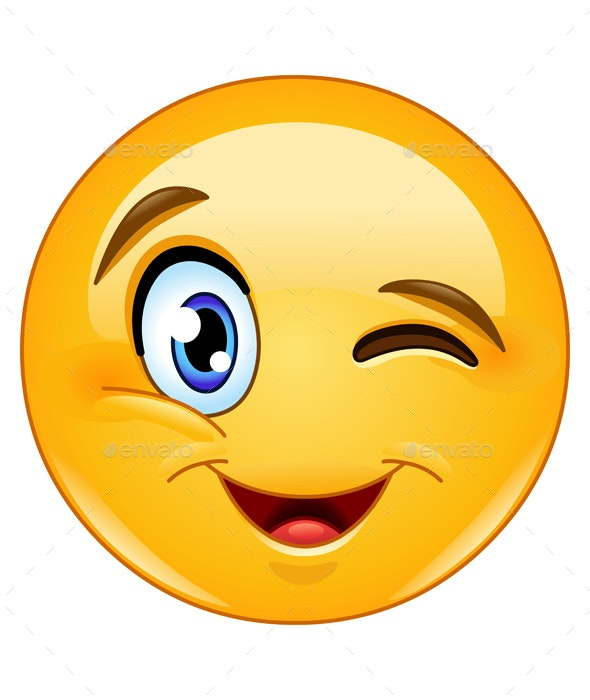 Winking Face Emoticon - People Characters