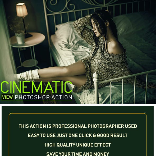 Cinematic View Photoshop Action