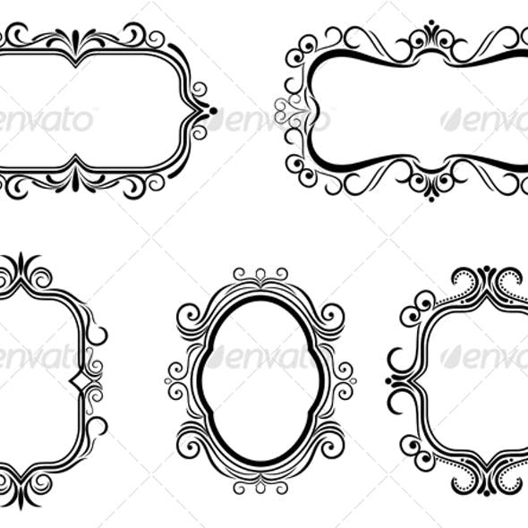 Antique vintage frames