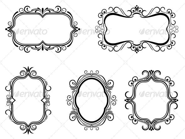 Antique vintage frames - Decorative Vectors