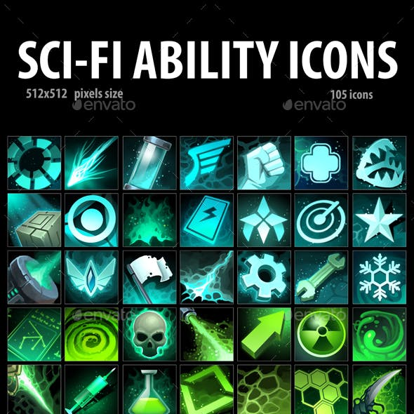 Sci-Fi Ability Icons