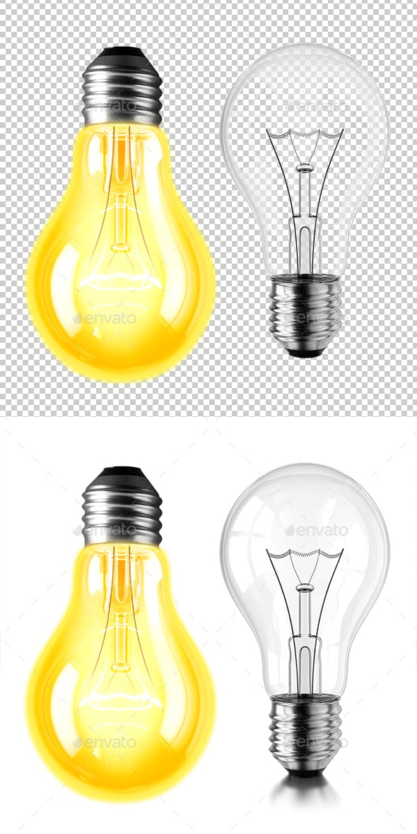 Lamp Bulb On And Off - Objects 3D Renders