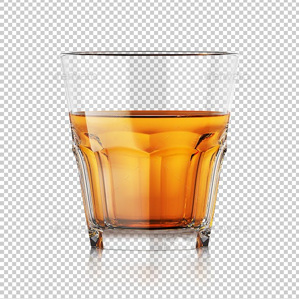 Whiskey Glass With Liquid