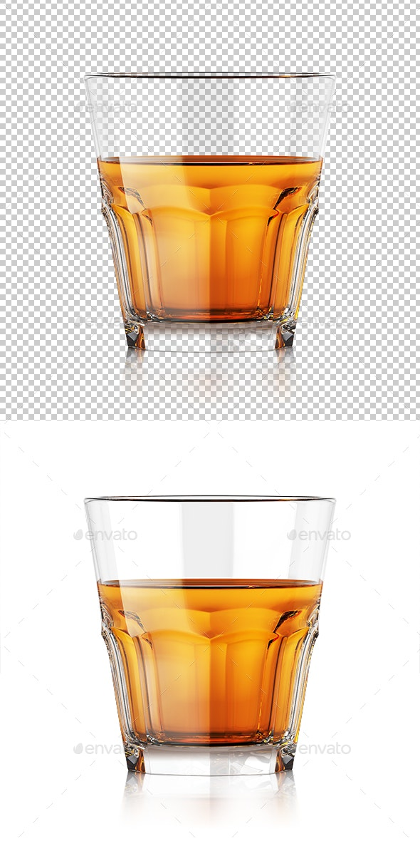 Whiskey Glass With Liquid - Objects 3D Renders