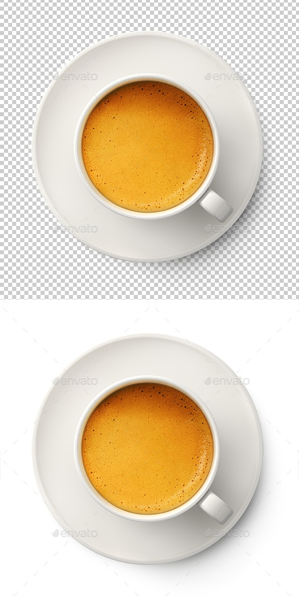 Coffee Cup With Cream Foam - Objects 3D Renders