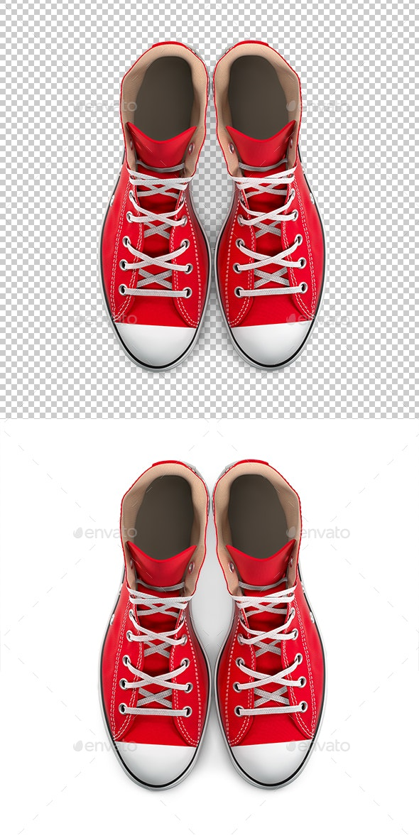 Red Sneakers - Objects 3D Renders