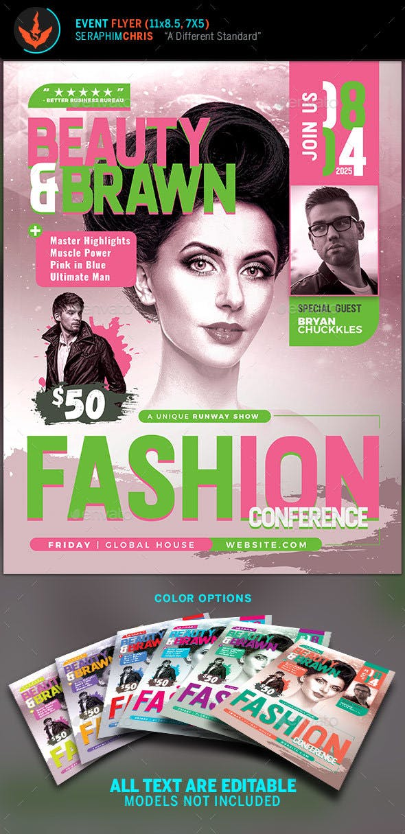 Fashion Show Flyer Template Events Flyers