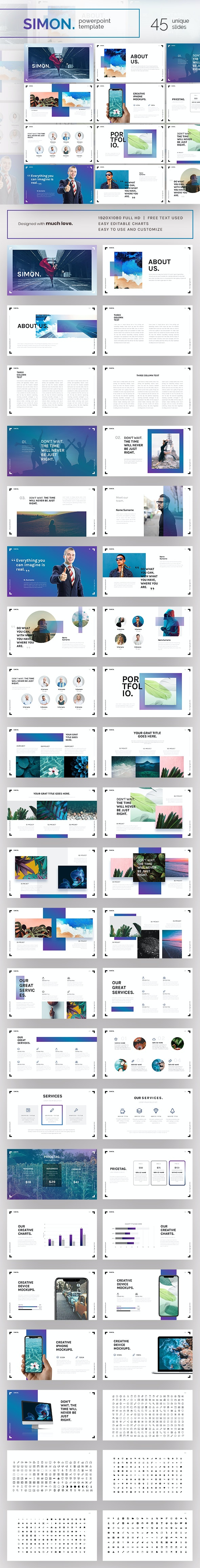 Simon Powerpoint Presentation Template - PowerPoint Templates Presentation Templates