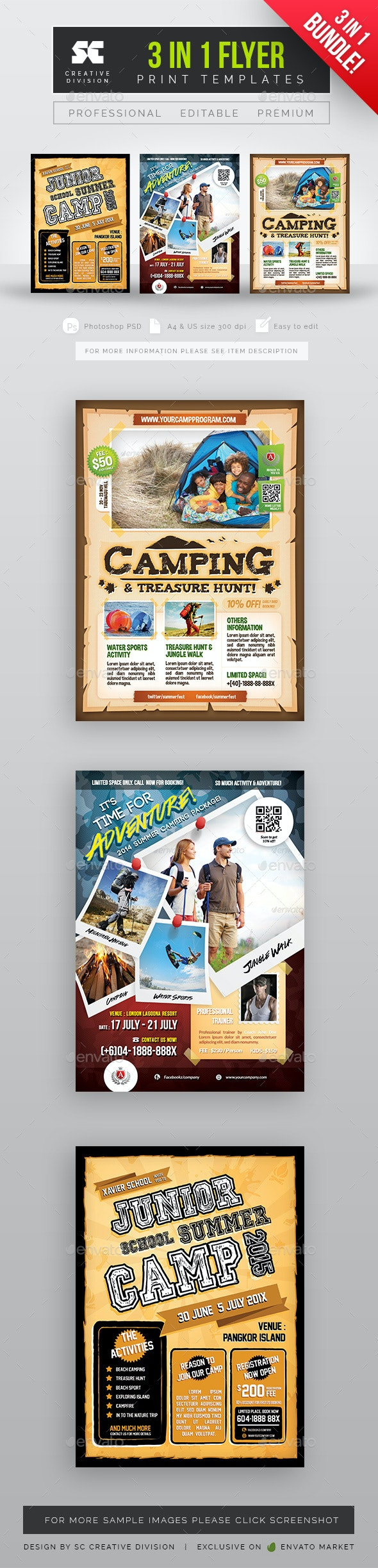 Camping Flyer Bundle - Miscellaneous Events