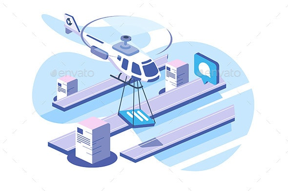 Delivery Documents Data Helicopter - Miscellaneous Vectors