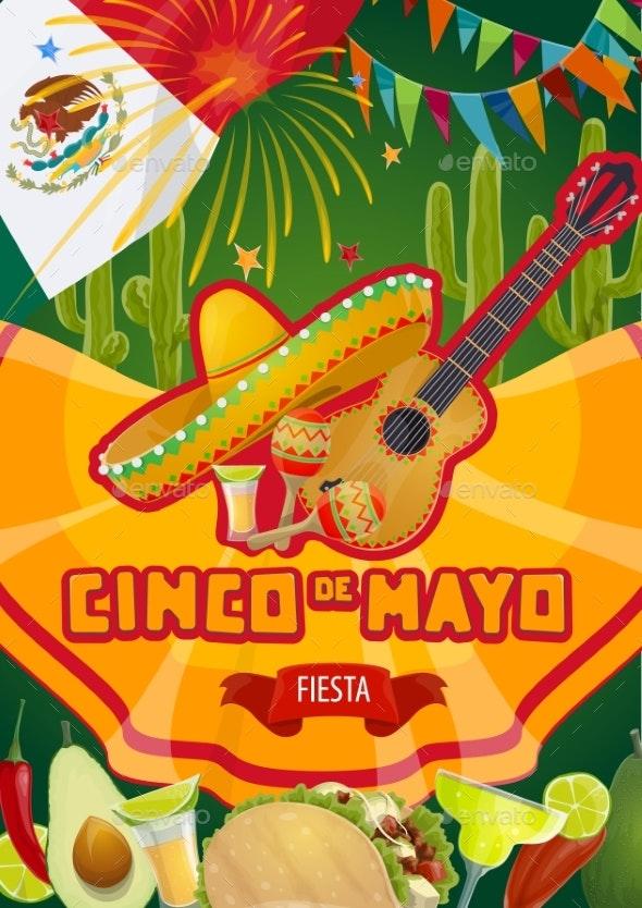 Mexican Fiesta, Cinco De Mayo Holiday Party - Seasons/Holidays Conceptual